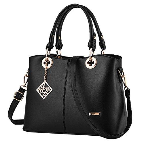 [해외]토트 백 핸드백 비즈니스 가방 2way PU 가죽 꽃 무늬 손잡이 대용량 통근 여성/Tote Bag Handbag Business Bag 2way PU Leather Floral Pattern Hardware Large capacity Commuter Women