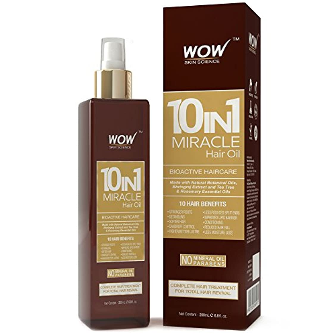 石灰岩呼びかけるリフレッシュWOW 10-in-1 Active Miracle Hair Oil - No Parabens and Mineral Oils - 200 ml