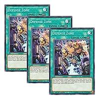 【 3枚セット 】遊戯王 英語版 MP18-EN078 Defense Zone ディフェンスゾーン (ノーマル) 1st Edition