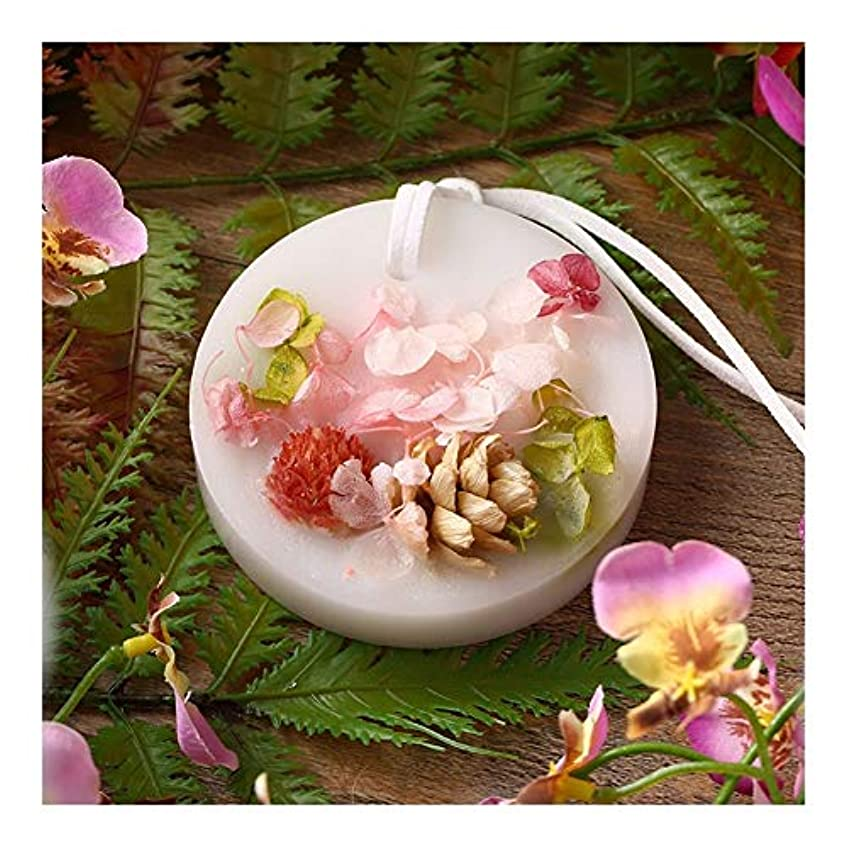 芝生すり円形Ztian ドライフラワー香料入りワックスタブレットワードローブ引き出しお香ワックス、香料入りキャンドル