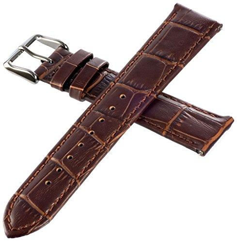 イタリアンレザー 本革 時計用 ベルト ワンタッチで装着簡単 バネ棒加工付き