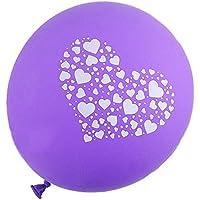 SODIAL(R) 25Xラブ気球 パーティー ウェディング装飾 ラテックス 紫