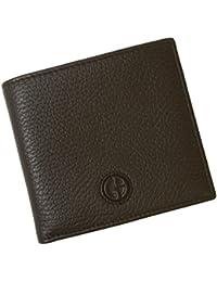 [アルマーニ] 財布 ジョルジオアルマーニ 二つ折 メンズ (ダークブラウン) A-2329 [並行輸入品]
