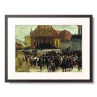 アドルフ・メンツェル Menzel, Adolph von 「Die Aufbahrung der Gefallenen der Marzrevolution in Berlin. 1848.」 額装アート作品