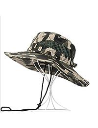 IAIZI メンズサンハット、折りたたみ可能なポリエステルメンズ釣り帽子、夏の屋外日焼け止めカモ帽子 (色 : #4)