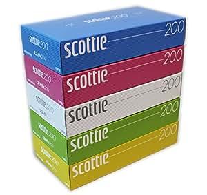 スコッティ ティシュー 400枚(200組) 5箱 カラーパッケージ
