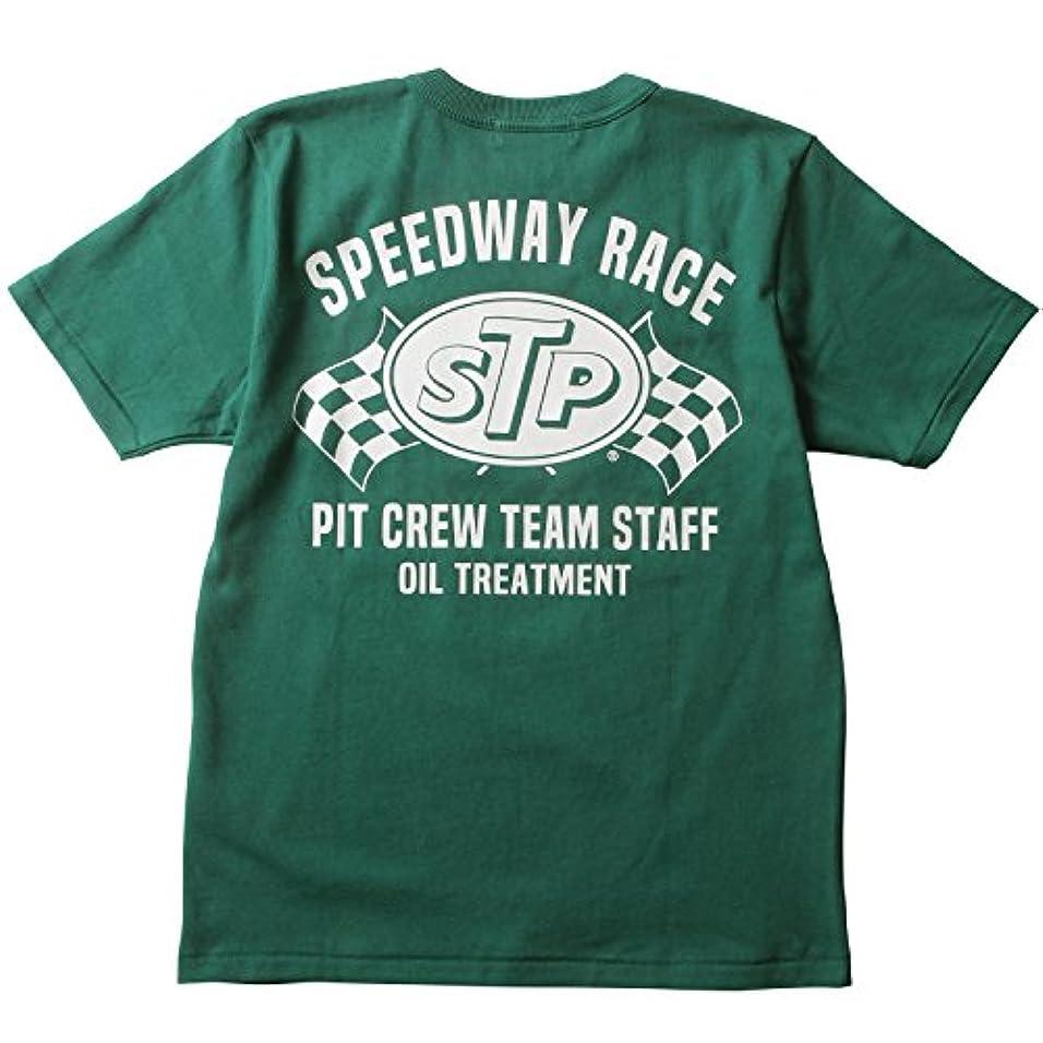 破壊的モザイクメディック(エスティーピー) STP Tシャツ オリジナル SPEEDWAY RACE バックプリント ヘビーTシャツ Prestonsボディ