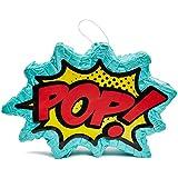 Juvale キッズ コミック スーパーヒーロー パーティー ピニャータ 誕生日パーティー用品 17 x 11 x 3インチ