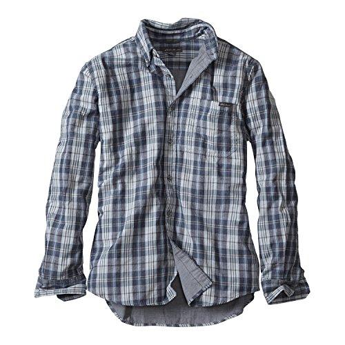 (エディー・バウアー) Eddie Bauer 長袖ツリーラインダブルクロスボタンダウンシャツ(グレー S)