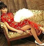 チャイナドレス コスチューム 赤 Mサイズ
