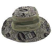 通気性の釣り帽子フィッシャーマンキャップSun Hat Mesh Sunhat Camouflage、J