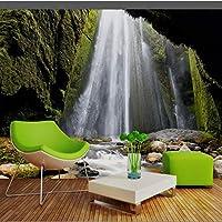 Xbwy カスタム3D壁画新鮮な次元山滝風景テレビの背景の壁紙中国絵画の壁紙-280X200Cm