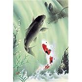 450スモールピース パズルの達人 夫婦鯉の滝のぼり (26x38cm)