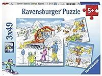 Ravensburger 08052 Let's Go Skiing! 3 x 49ピースパズル 箱入り 3 x 49ピースパズル 子供用 すべてのピースはユニーク、ピースは完璧にフィット