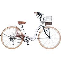 (コノミ) CONOMi 折りたたみシティサイクル?折りたたみ自転車?26インチ?6段ギア?LEDオートライト?パンクしにくい肉厚チューブタイヤ?CO-26