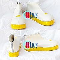 ●●サイズ選択可●●I0777ZCI コスプレ靴 ブーツ VOCALOID 鏡音リン・鏡音レン 女性23CM