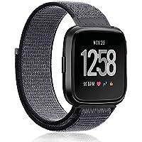 inverleeマジックステッカーナイロン調節可能な交換用ストラップ手首バンドfor Fitbit Versa Smart Watch S