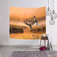 動物の世界タペストリー壁掛け自然動物アートポリエステル生地吊りテープ SHWSM (Color : E, Size : 229x153)