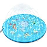 lelestar 噴水マット 噴水おもちゃ プール噴水 プレイマット おもちゃ PVC プール子供用 キッズ 水遊び 親子遊び プールマット 夏対策 庭の中に遊び 家族用 芝生遊び プレゼント アウトドア 170CM