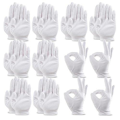 コットン手袋 綿手袋 インナーコットン手袋 ガーデニング用手袋 20枚入り Sサイズ 湿疹用 乾燥肌用 保湿用 家事用 礼装用