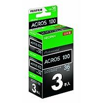 FUJIFILM 黒白ネガフイルム ネオパン 100 ACROS 35mm 36枚 3本 135 ACROS100 NP 36EX 3SB
