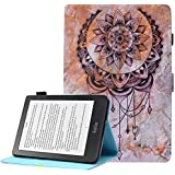 A-BEAUTY Kobo Clara HD Case, Painted Leather Soft TPU [Magnetic Closure] [Card Slots] Stand Wallet with Auto Sleep/Wake for Kobo Clara HD 6.0 Inch Ereader 2018 Release, Dreamcatcher