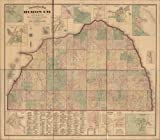 マップの地形のHuron Co。、ミシガン州Huron county|michigan|huron county|michigan|cadastral s|huron county|landowners|michigan|realプロパティ
