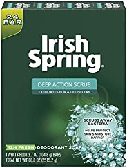 Irish Spring Men's Deodorant Soap Bar, Original Scent - 3.7 ounces (24 Co