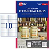 Avery Crystal Clear Rectangle Labels for Laser Printers, 96 x 50.8 mm, 100 Labels (980019 / L7113)