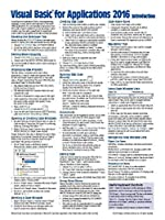 Visual Basic for Applications (VBA) 2016 Introduction Quick Reference Guide - Windows Version (Cheat Sheet of Instructions Tips & Examples - Laminated) [並行輸入品]
