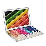 """kwmobile Apple MacBook Air 13""""(2011年半ばから) のためのキーボードステッカー したたる虹カラフルデザイン マルチカラー赤色ベージュ キーボード保護 フィルム シール スキン"""