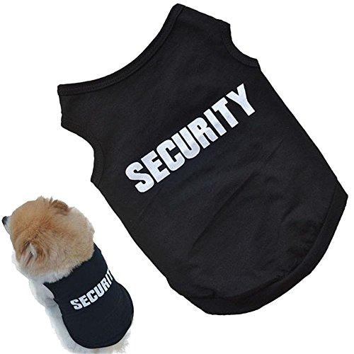犬猫用 警備員Tシャツ セキュリティー制服風Tシャツ (S)