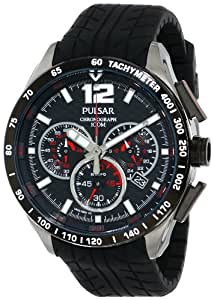 Pulsar Pu2021 Chronograph Carbon Fiber Dial Black Men's Watch [並行輸入品]