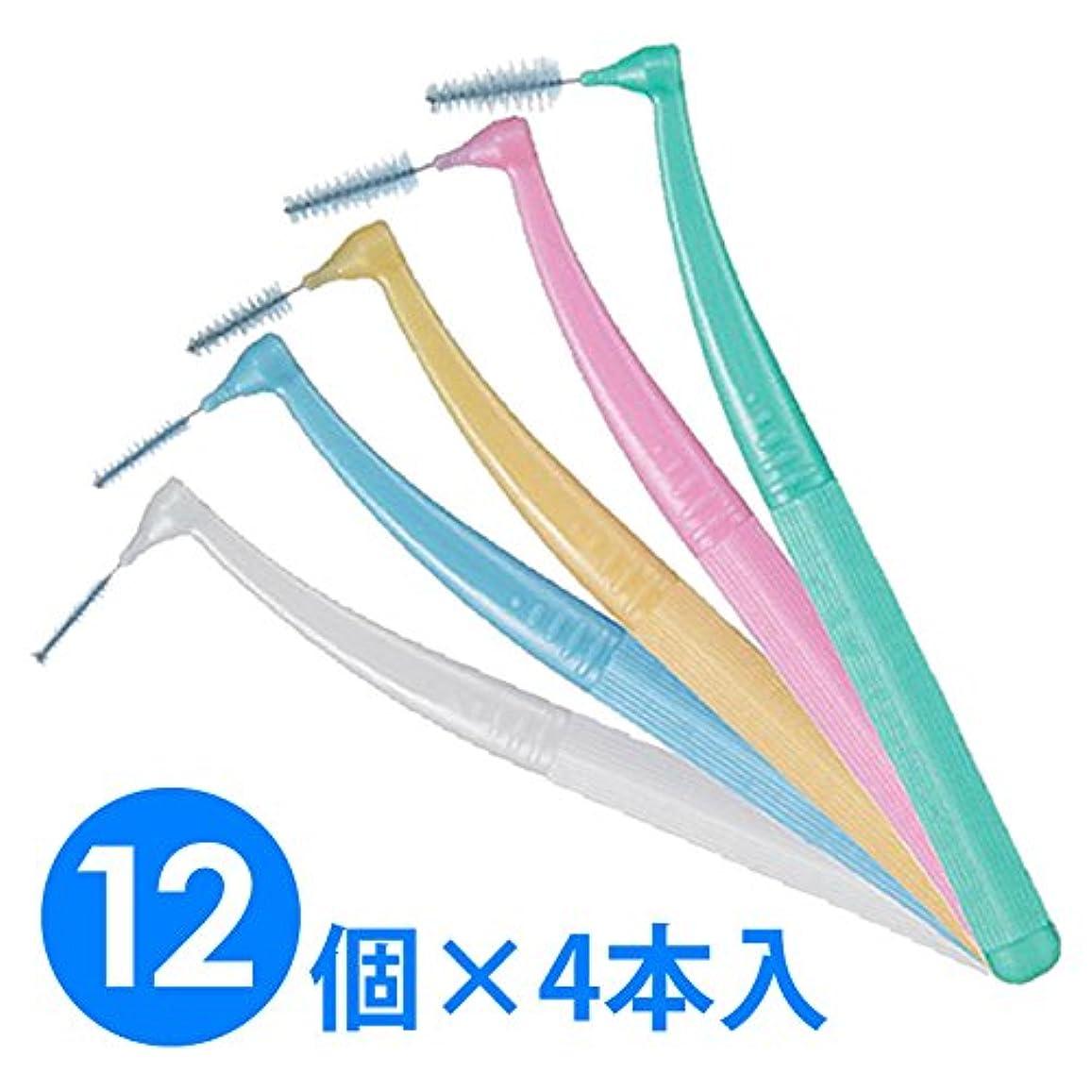 迷惑味わう思春期【12個1箱】ガム?プロズ 歯間ブラシL字型 4本入り×12 (M(4)ピンク)
