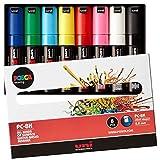 三菱鉛筆 水性ペン ポスカ 太字 角芯 8色 PC8K8C