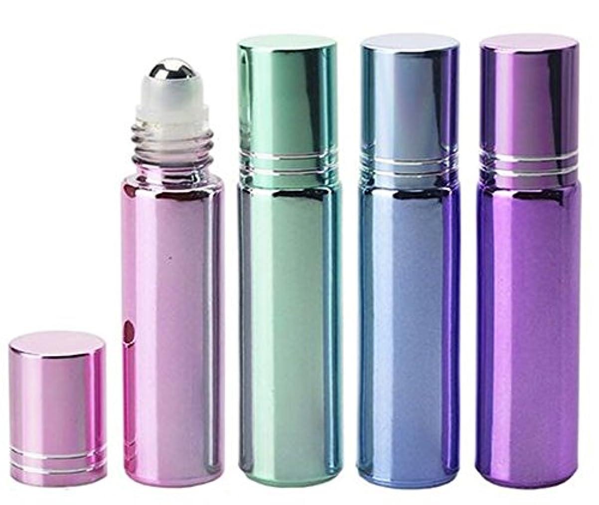 国籍ボトル頑張るShopXJ 香水 アトマイザー ロールオン 詰め替え容器 パステルカラー 10ml スポイト付き (ブルー)