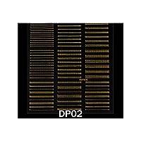 ネイルアートステッカー装飾金属ラインストライピングテープ転送箔レーザー接着剤Diyデカールマニキュアツール、Dp02