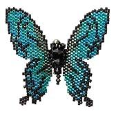 MIYUKI ルリ色蝶のブローチBFK100