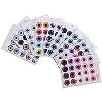 Blesiya 12インチブライス人形対応 紙製 ドール 目 チップ パターン UV接着剤なし 人形DIY 作成 修理 全2種類選ぶ - 01
