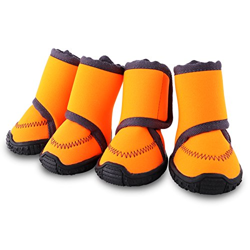 HAVEGET ドッグブーツ 犬用靴 愛犬のお散歩 滑り止め 雨の日 柔らか 軽い 中型、大型犬にもフィット 7サイズ選べる ドッグシューズ 犬靴(M)