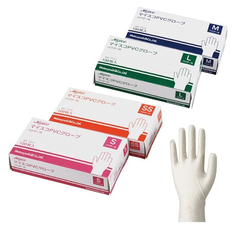 流出種咳マイスコPVCグローブパウダー無し6ケース(600枚) (L)