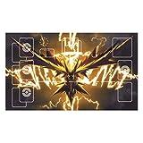 サンダー ポケモンプレイマット 枠付き カードゲーム用プレイマット バトルフィールド