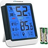 iTronics TP55 Digital Hygrometer Indoor Thermometer Humidity Gauge with Jumbo Touchscreen and Backlight Temperature Humidity Monitor