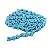 ノーブランド品  2個セット お買い得 耐久性 シングルスピード 自転車チェーン 1/2 x 1/8インチ  全2色  - ブルー