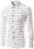 (ワトリズ)Whatlees メンズ 長袖シャツ ドット柄 おしゃれ 肌触り良い カジュアル ボタンダウンシャツ B398-03-39