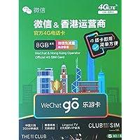 香港 プリペイドSIM 8日利用 データ容量8GB 香港内の通話無制限