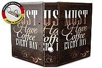バインダー 2 Ring Binder Lever Arch Folder A4 printed Must have Coffee