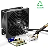 Youtumall Solder Smoke Absorber Static Electricity Portable Convenient Fan Tabletop Super Quiet Smoking Fan Exhaust Fan [Black]