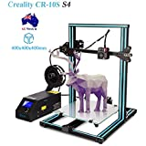 Creality CR-10S S4 3D Printer Kit Large Printing Size 400x400x400mm with Dual Z Axis, 1.75mm 0.4mm MK10 Nozzle with Filament Detector, Free 200g Filament, High Precision