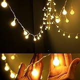 TECKEPIC イルミネーションライト 電池式ストリングライト 4.3m40個LEDボールライト ロマンチック雰囲気 防水 クリスマス ハロウィン パーティー 誕生日 結婚式 庭 広場 街路樹の写真